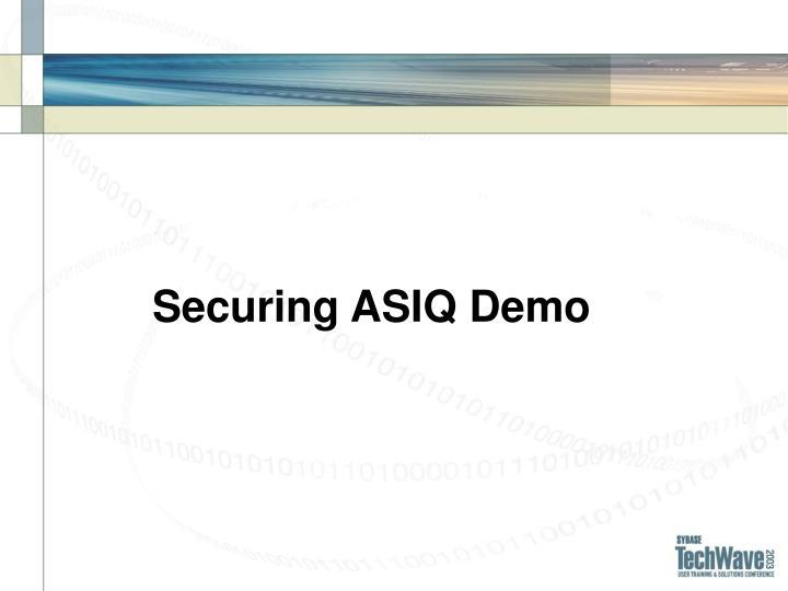 Securing ASIQ Demo