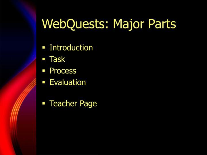 WebQuests: Major Parts