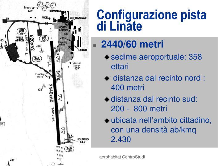 Configurazione pista di Linate
