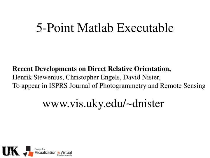 5-Point Matlab Executable