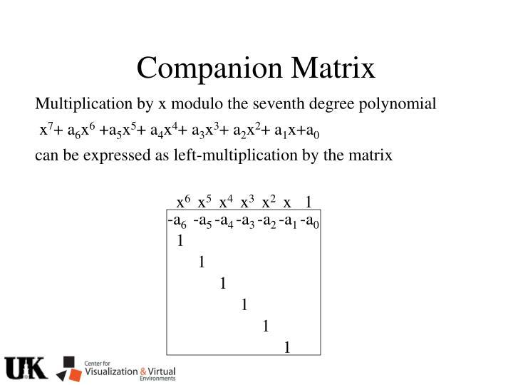 Companion Matrix