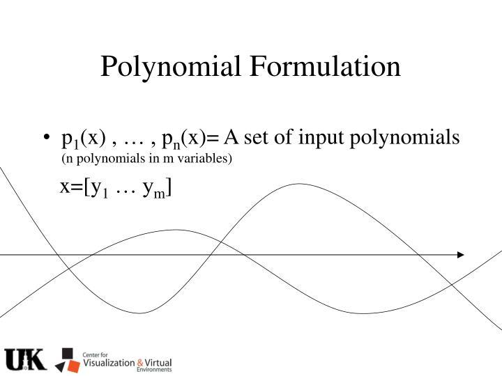 Polynomial Formulation