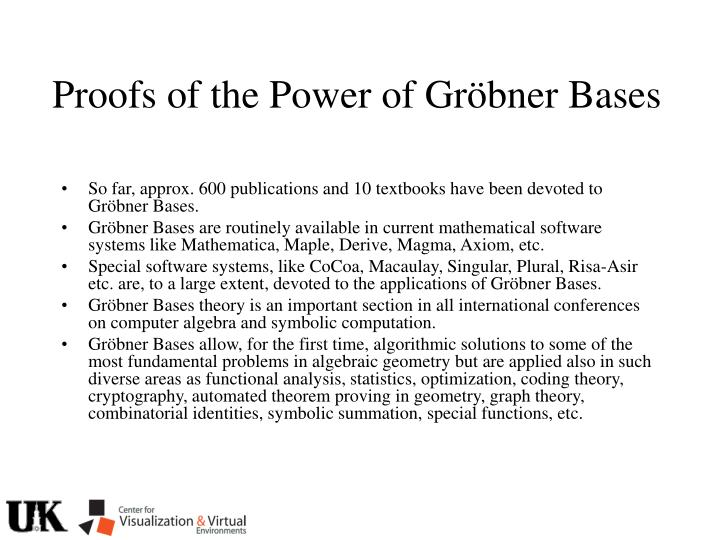 Proofs of the Power of Gr