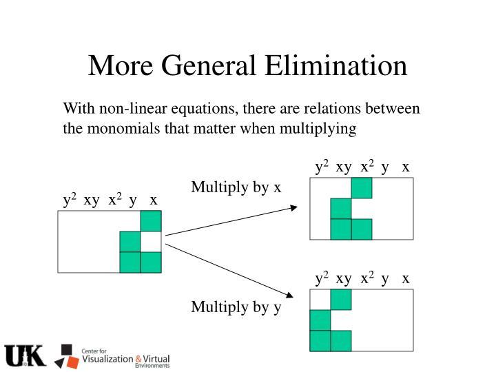 More General Elimination