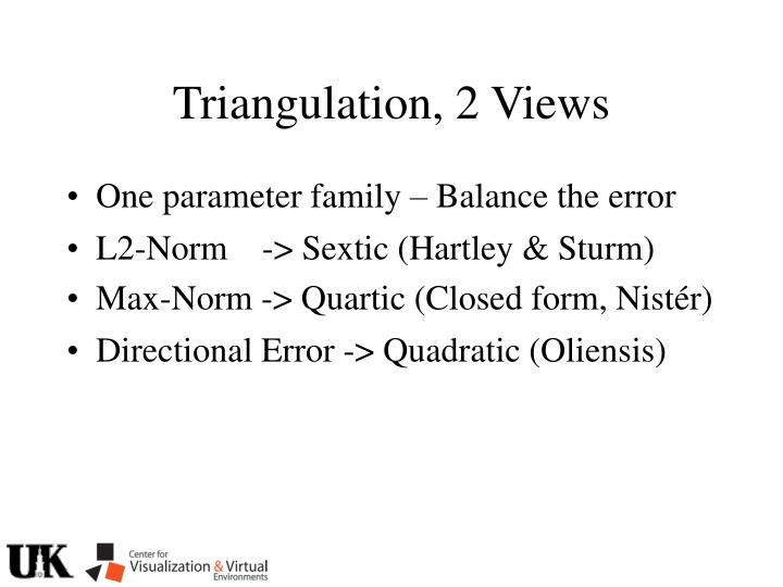 Triangulation, 2 Views