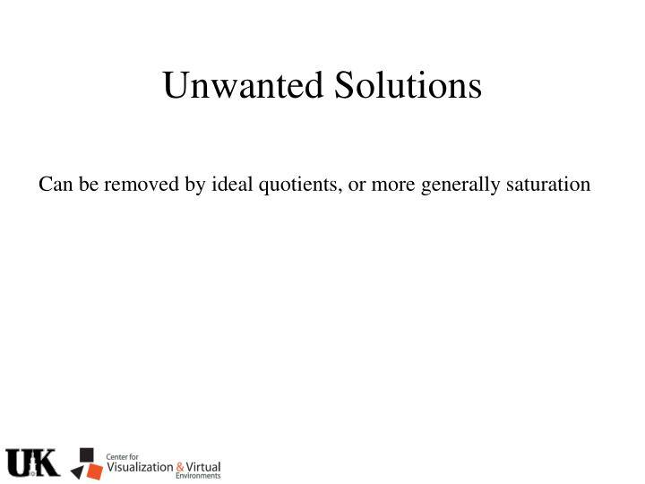 Unwanted Solutions
