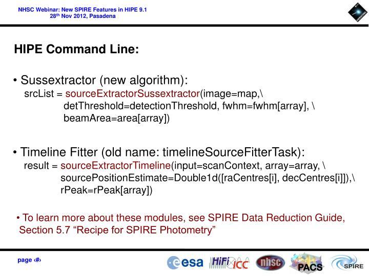 HIPE Command Line: