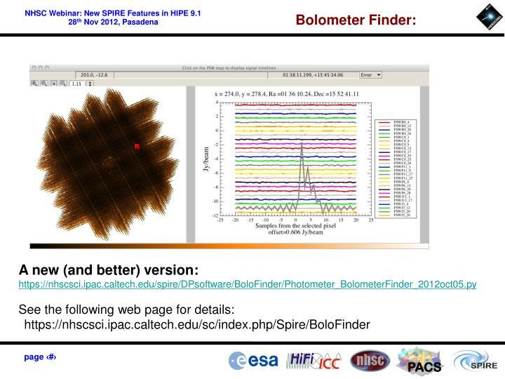 Bolometer Finder: