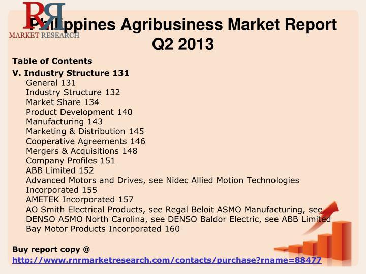 Philippines agribusiness market report q2 20131