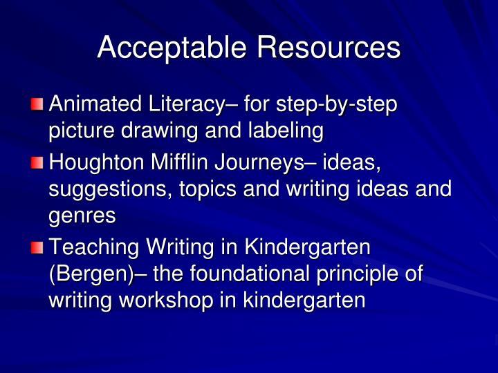 Acceptable Resources
