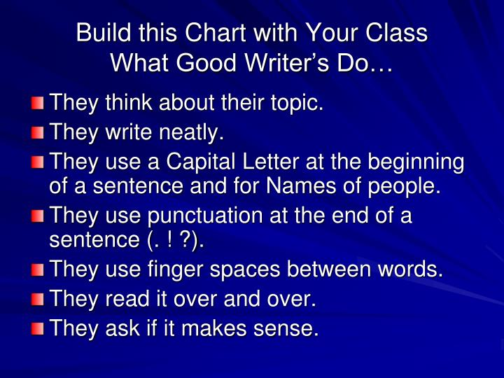 Build this Chart with Your Class