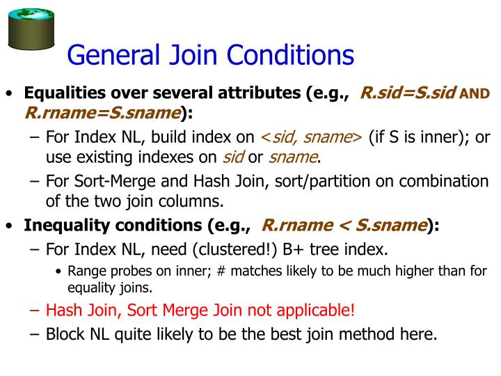 General Join Conditions