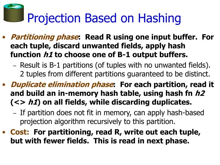 Projection Based on Hashing