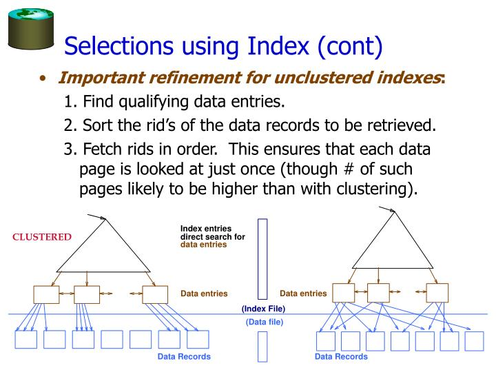 Selections using Index (cont)