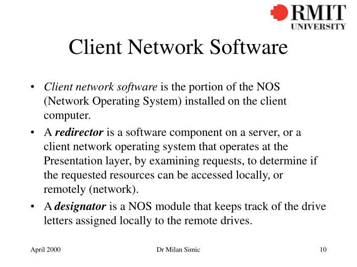 Client Network Software
