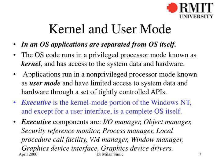 Kernel and User Mode
