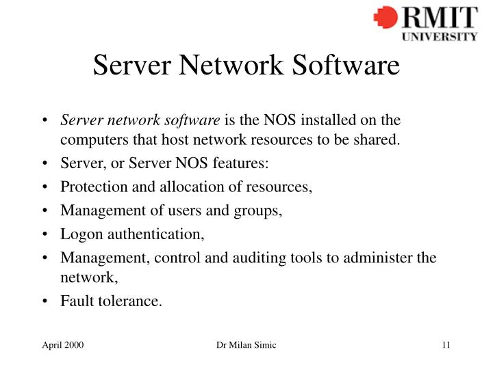 Server Network Software