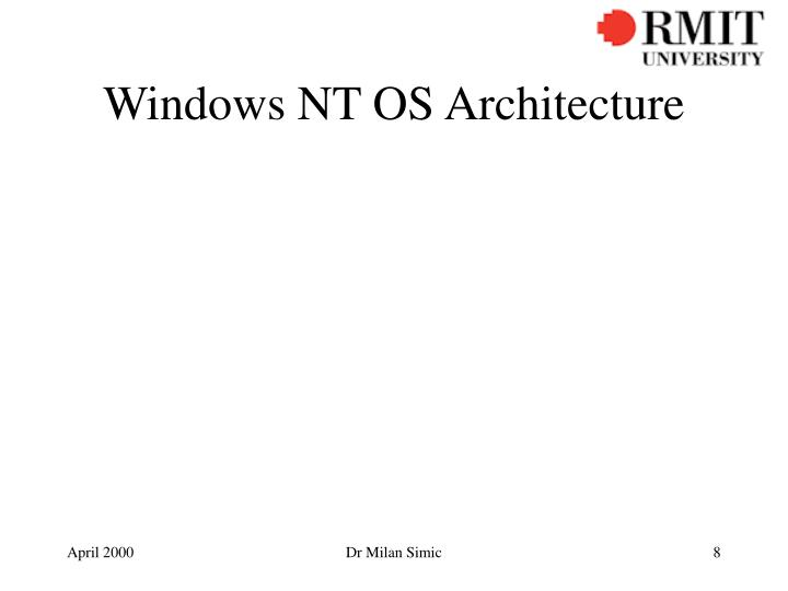 Windows NT OS Architecture