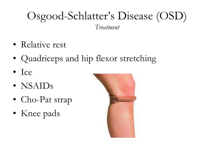osgood schlatters disease essay Osgood-schlatter disease is painful inflammation of the bone and cartilage at the top of the shinbone (tibia) this disease is caused by overuse of the leg typical symptoms include pain, swelling, and tenderness at the knee the diagnosis is based on a physical examination and sometimes x-rays.