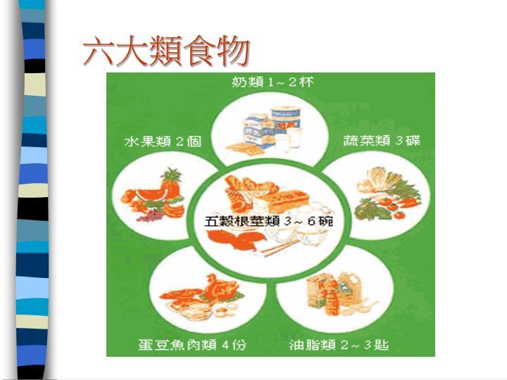六大類食物