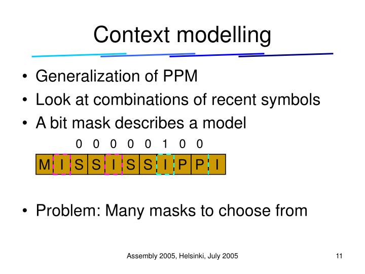 Context modelling