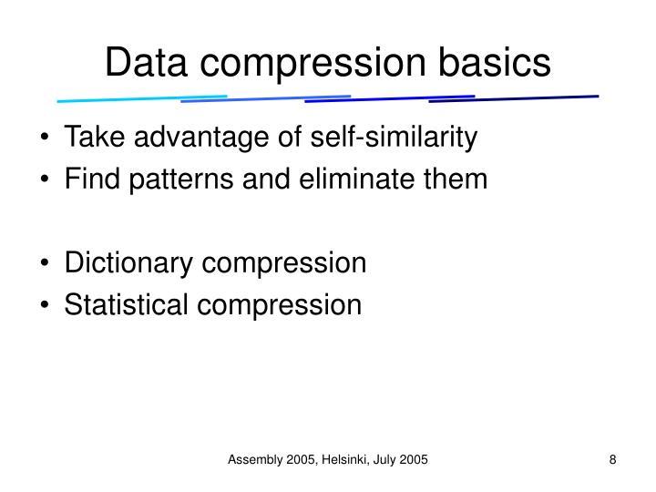 Data compression basics