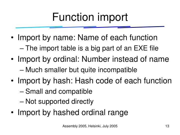 Function import