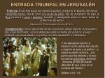 entrada triunfal en jerusal n