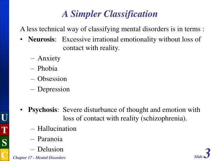 A simpler classification