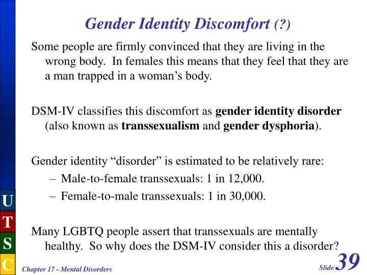Gender Identity Discomfort