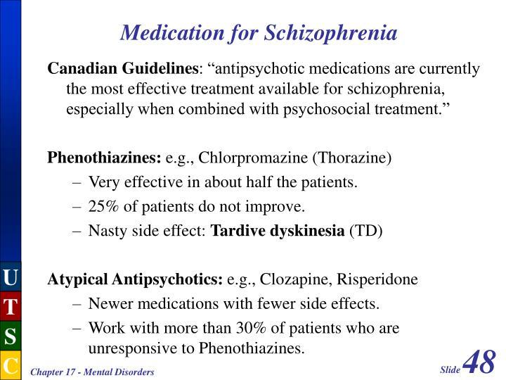 Medication for Schizophrenia