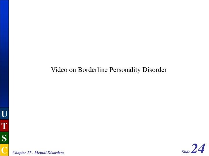 Video on Borderline Personality Disorder
