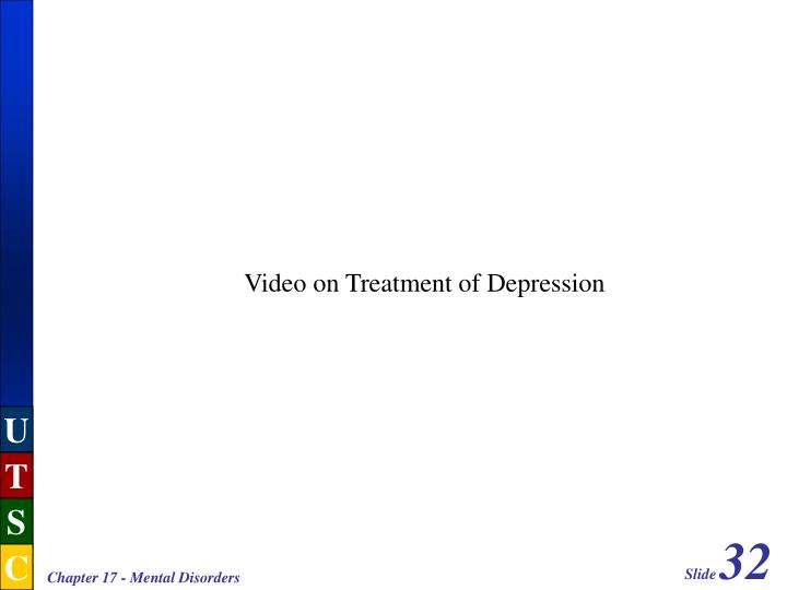 Video on Treatment of Depression