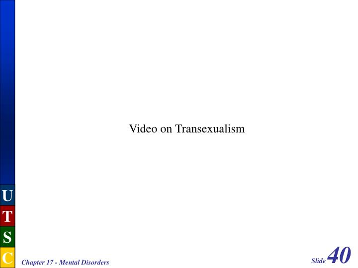 Video on Transexualism