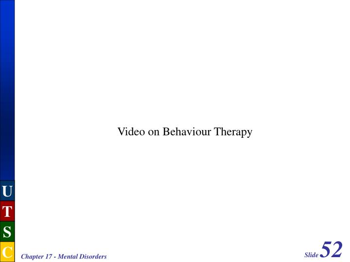 Video on Behaviour Therapy
