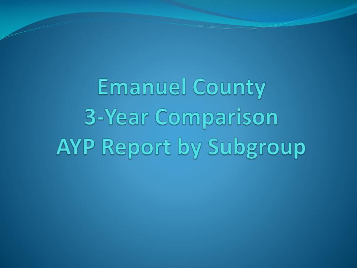 Emanuel County