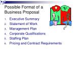 possible format of a business proposal