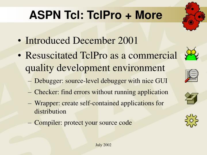 ASPN Tcl: TclPro + More