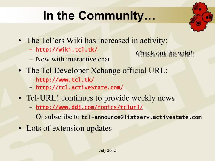 In the Community…