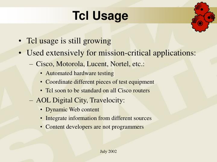 Tcl Usage