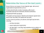 determine the focus of the tool cont1