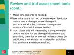 review and trial assessment tools cont2