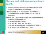 review and trial assessment tools cont3