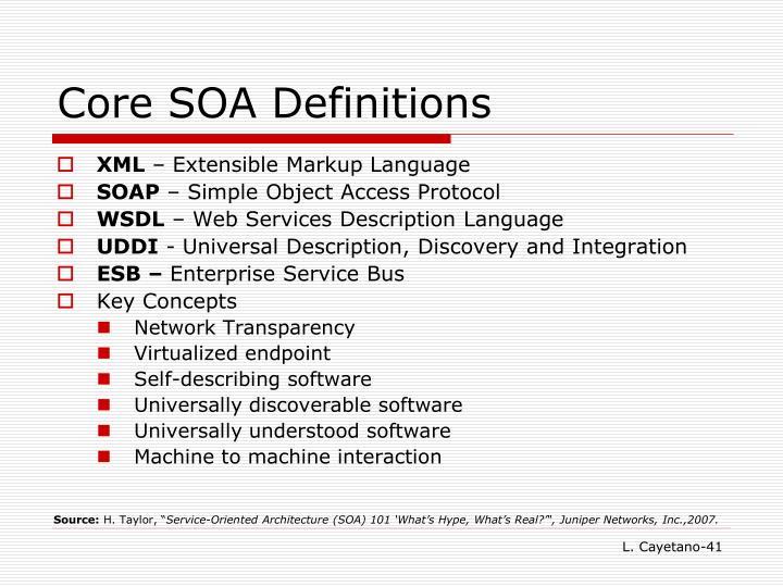 Core SOA Definitions