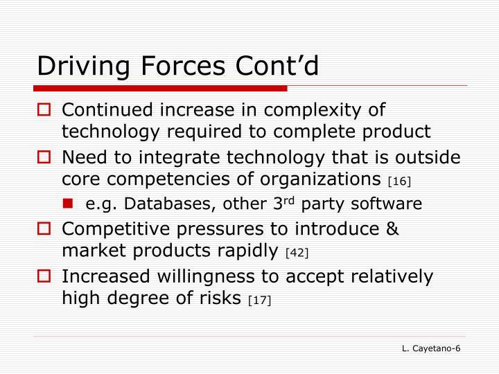 Driving Forces Cont'd