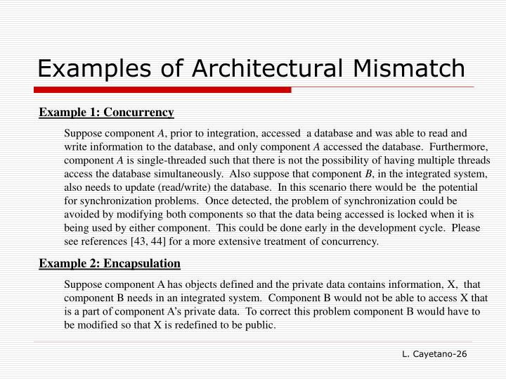Examples of Architectural Mismatch