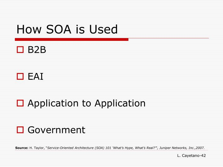 How SOA is Used