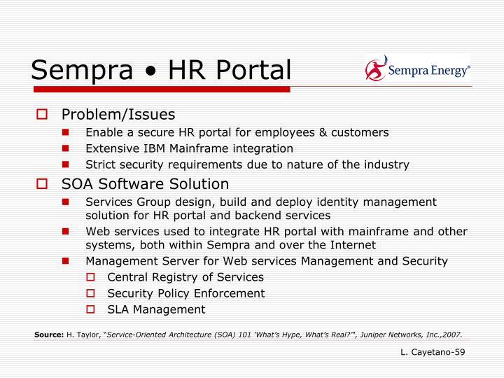 Sempra • HR Portal