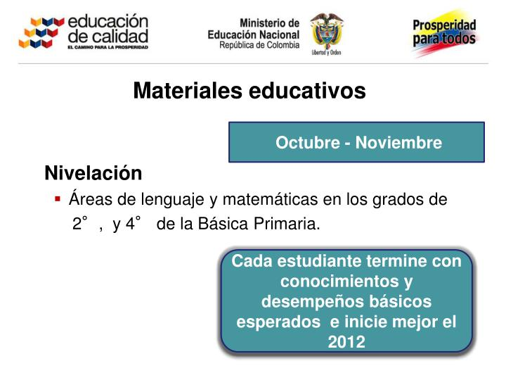 Materiales educativos