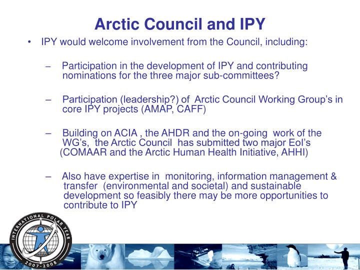 Arctic Council and IPY
